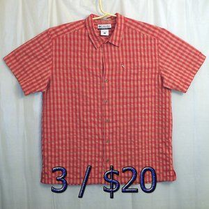 3/$20 Columbia Button Front Shirt Multicolor Large